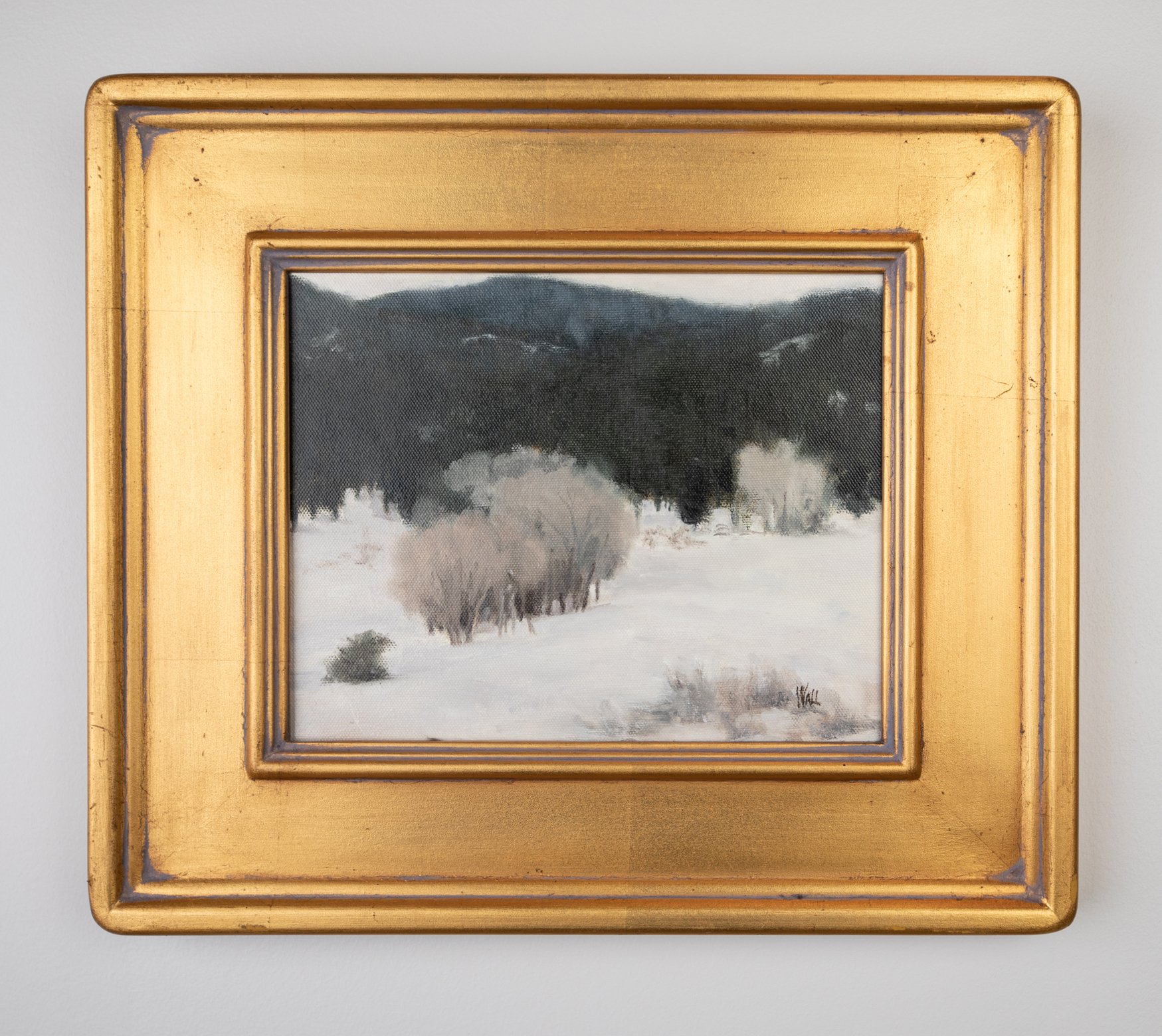 Darlene Wall, Winter's Mantle, Oil on Canvas, 8in. x 10in., ca. late 20th- early 21st century