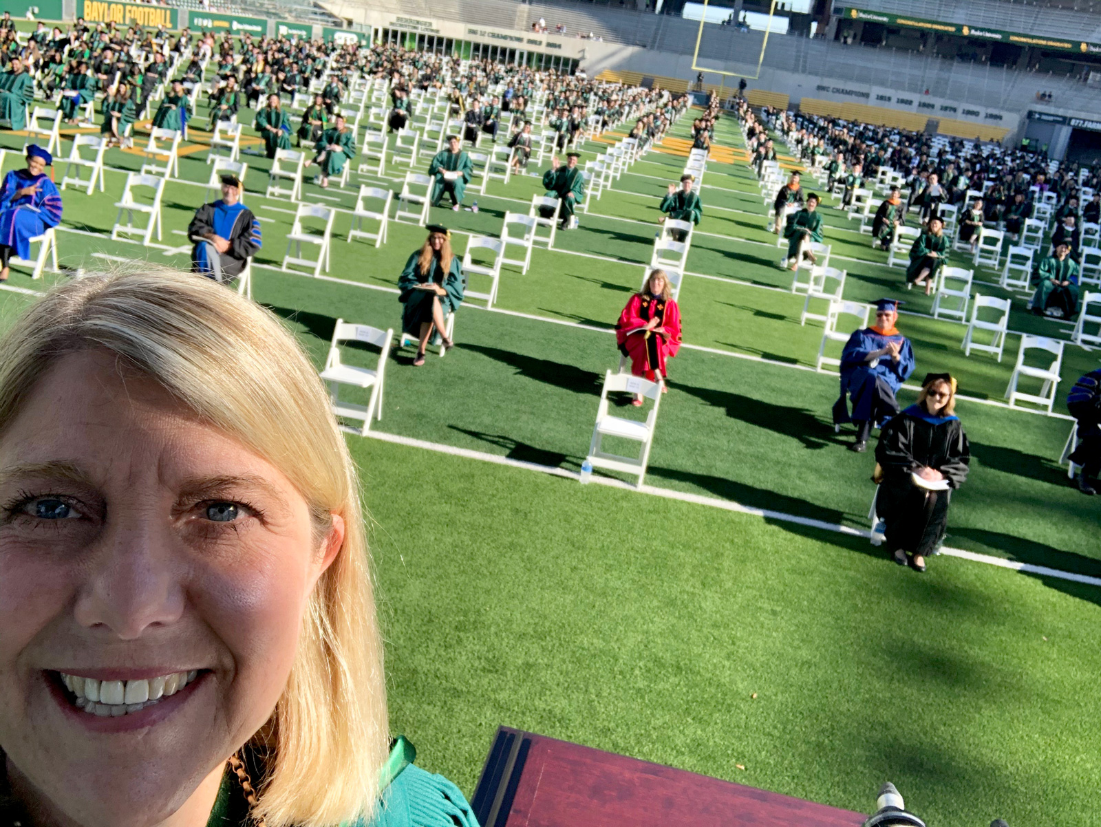 May 6 morning Commencement selfie
