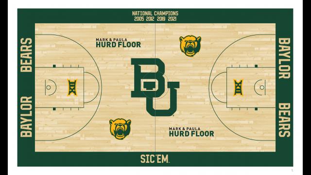 Full-Size Image: Baylor Basketball Pavilion Floor