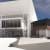 [Mark & Paula Hurd Welcome Center Architectural Rendering 2021]