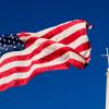 [Flag and church]