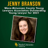 Baylor Law's Jenny Branson named the 2021 Outstanding Young Lawyer of McLennan County