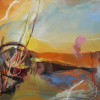 Painting Professor Winter Rusiloski's Work in Invitational Exhibition