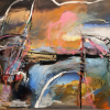 Professor Winter Rusiloski's Collage Painting Chosen for International Juried Exhibition