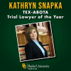 Kathryn Snapka, Baylor Lawyer and Jaworski Fellow, Honored as Trial Lawyer of the Year by TEX-ABOTA