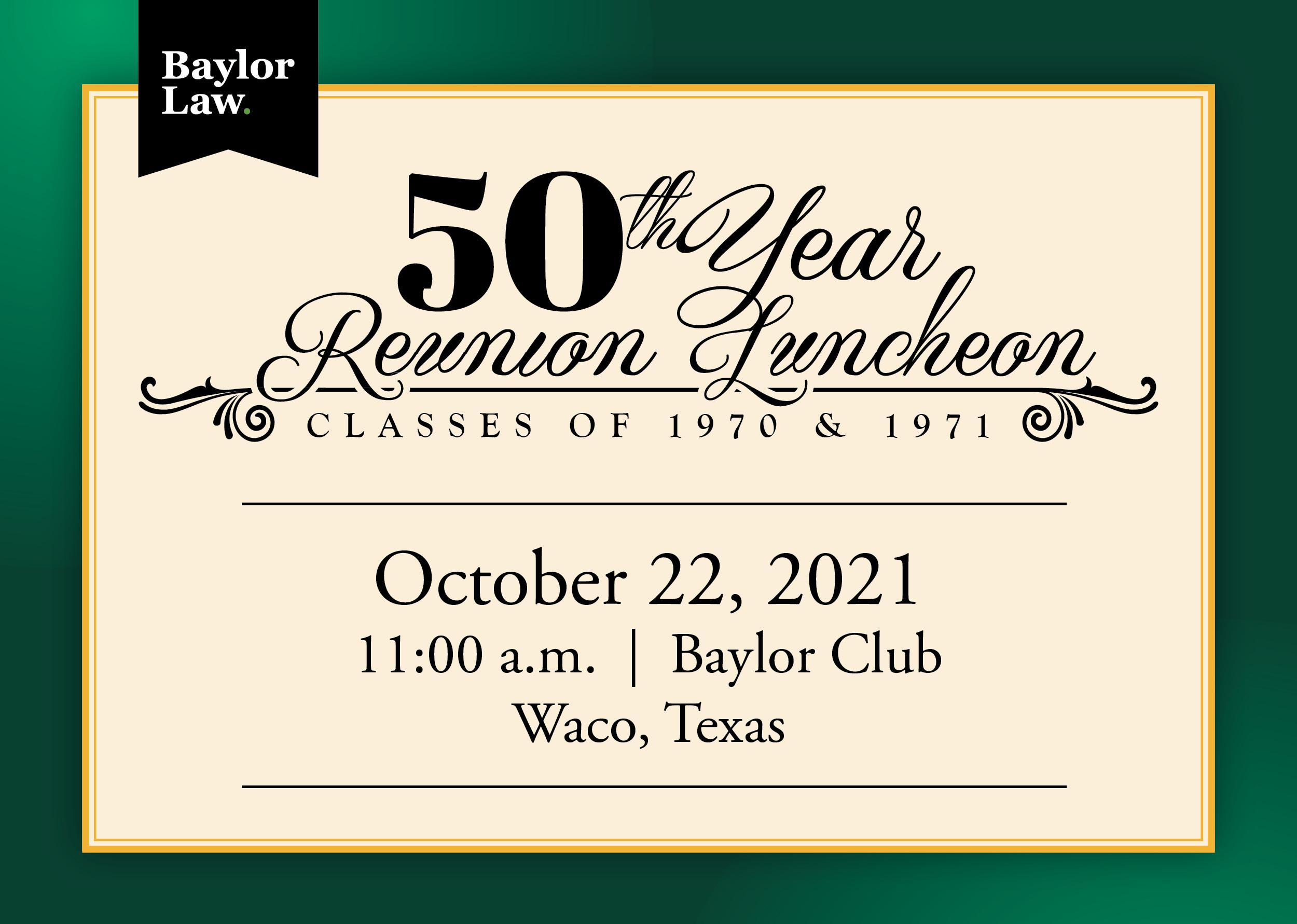 Baylor Law 50th Reunion