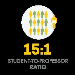 15 to 1 Student to Professor Ratio