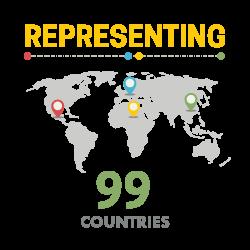 Representing 99 Countries