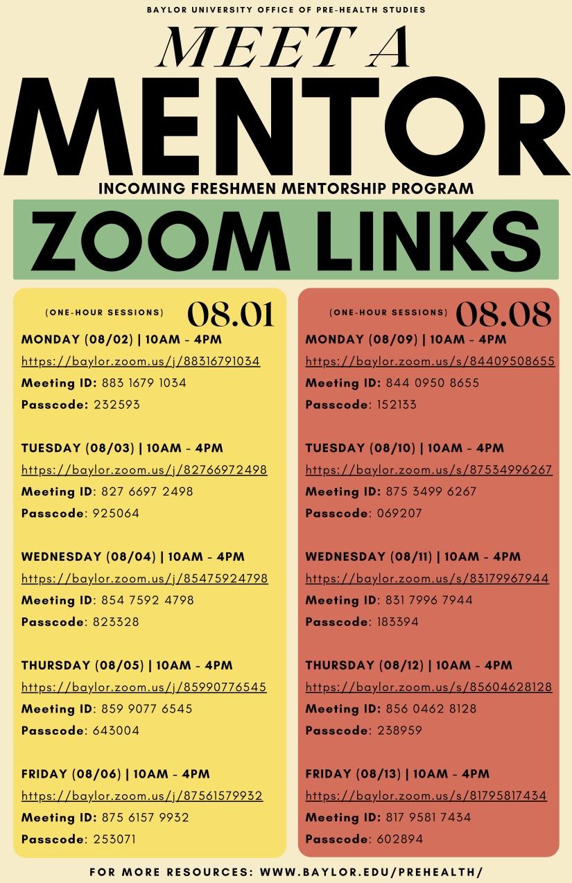 zoom links