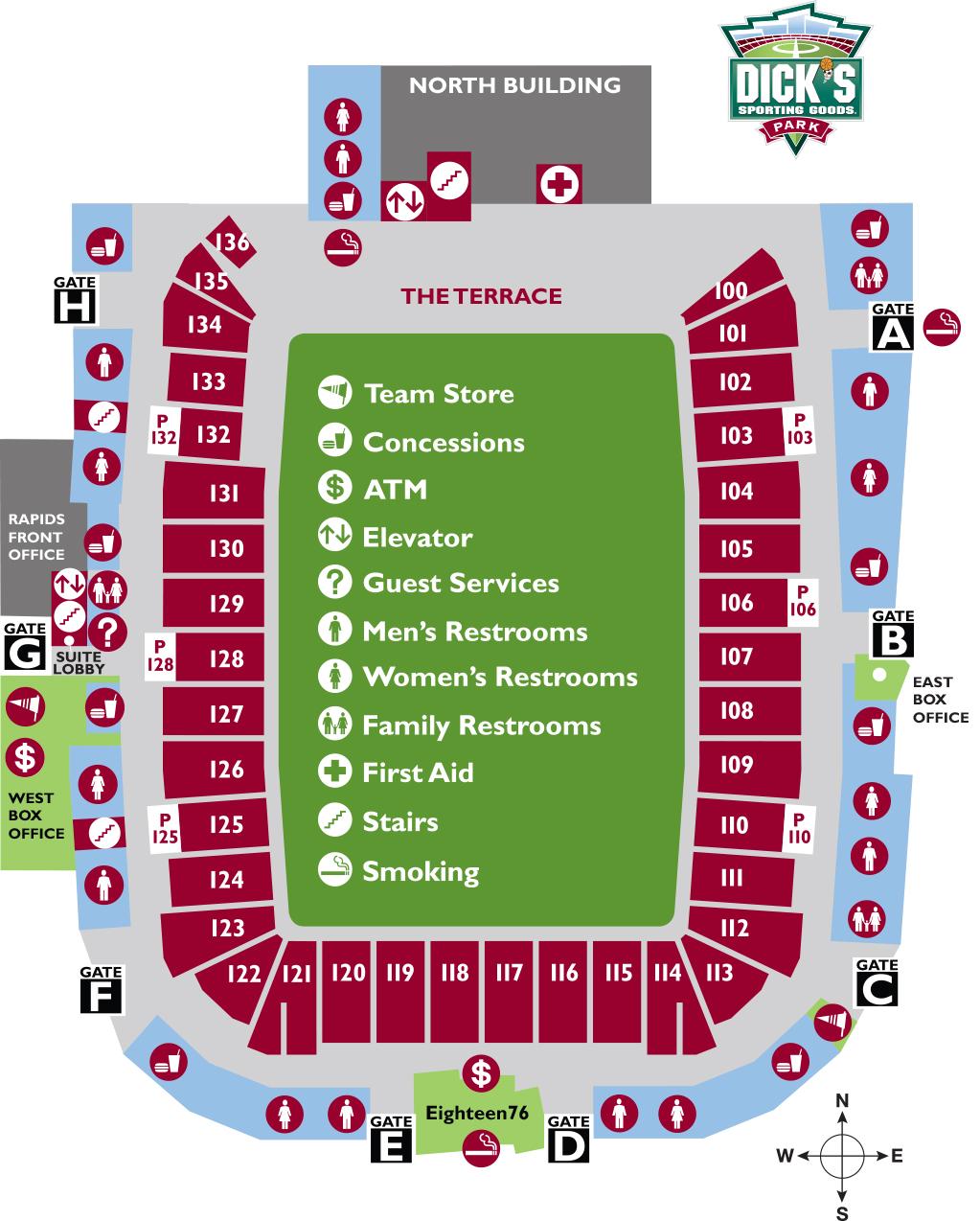 Colorado Rapids Stadium Map