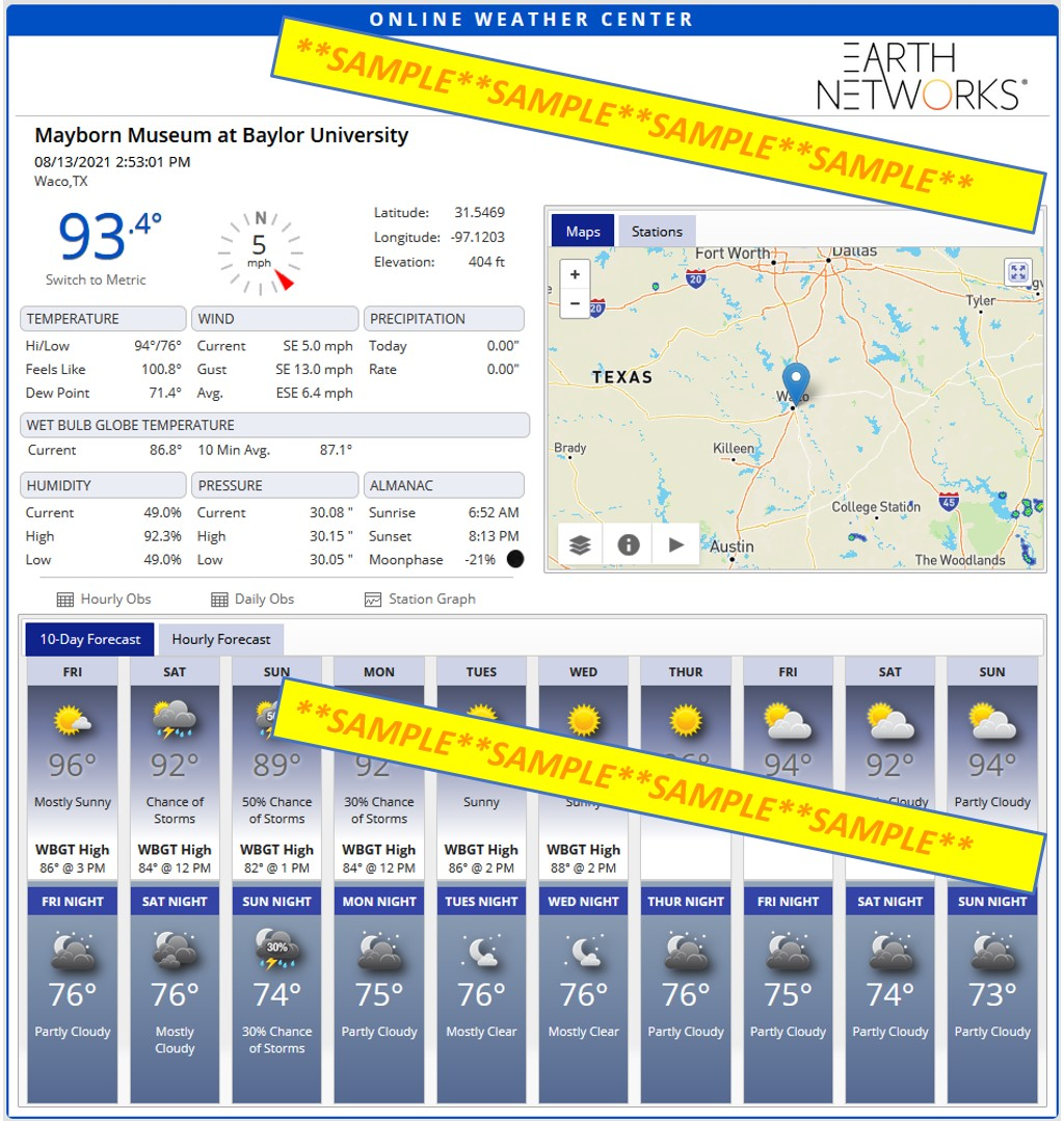 Earth Networks Weather Station Screenshot