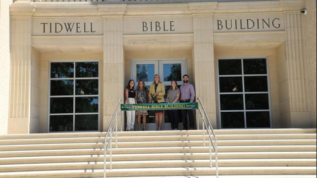 Full-Size Image: Tidwell Bible Building Ribbon Cutting