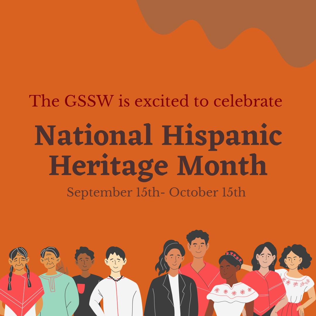 National Hispanic Heritage Month welcome graphic