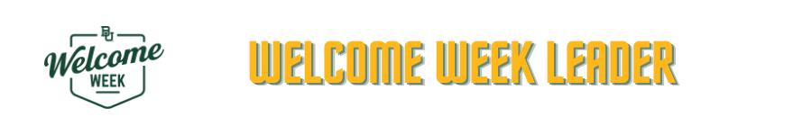 Welcome Week Header