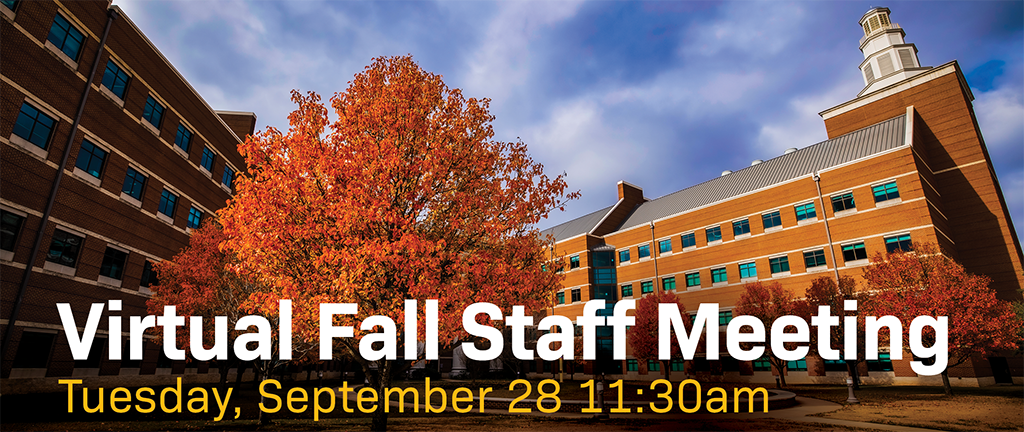 Fall Staff Meeting graphic.
