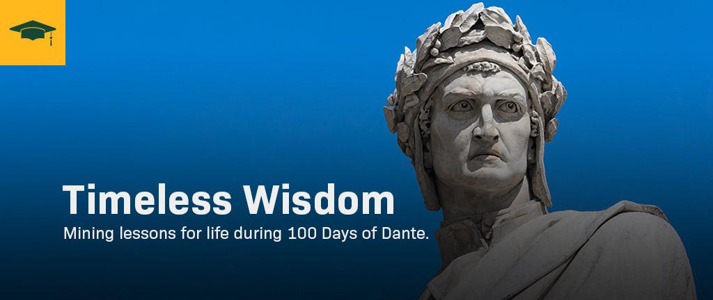 A statue of Dante.