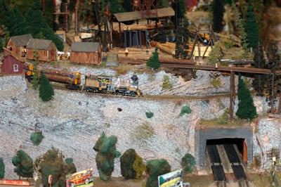 Model Train Scene