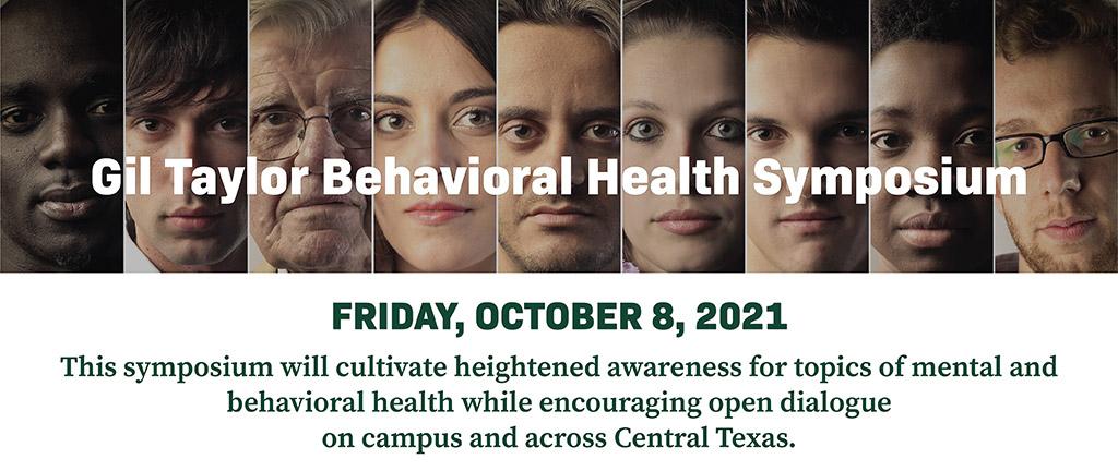 Gil Taylor Behavioral Health Symposium graphic.