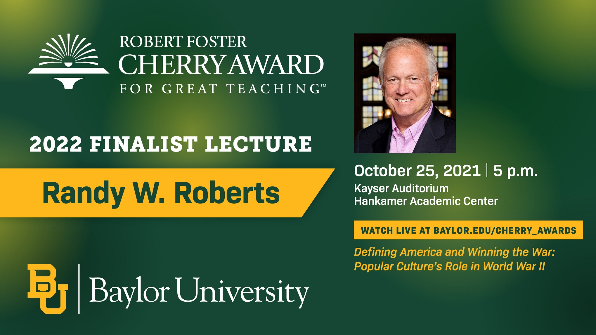 Cherry Award Randy Roberts