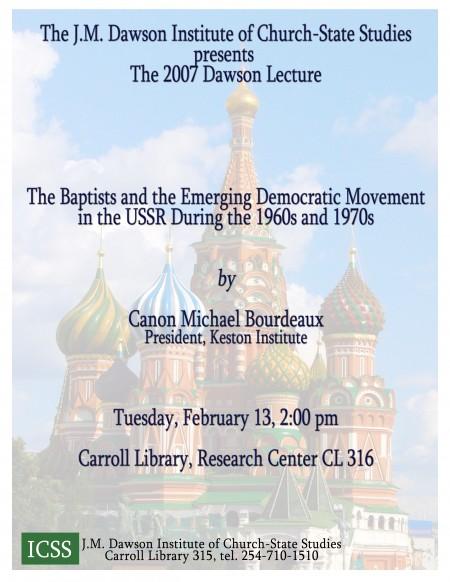 2007 Dawson Lecture Flyer