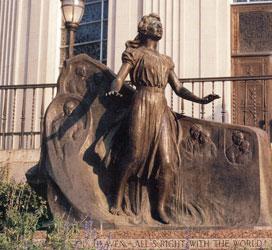 Exterior-Pippa Passes Statue