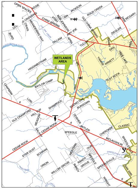 map of lake waco Wetlands Map Lake Waco Wetlands Baylor University map of lake waco