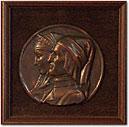 Sculpture-Beatrice & Dante Medallion
