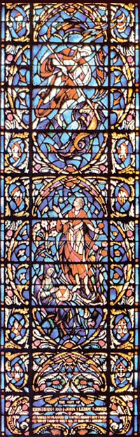 Stained Glass-Rabbi Ben Ezra Lower Section