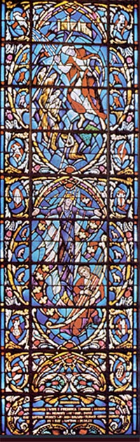 Stained Glass-Saul, Lower Section