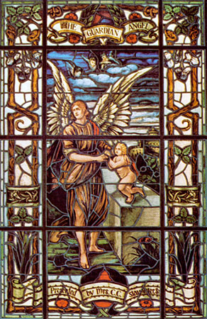 Stained Glass-Guardian Angel