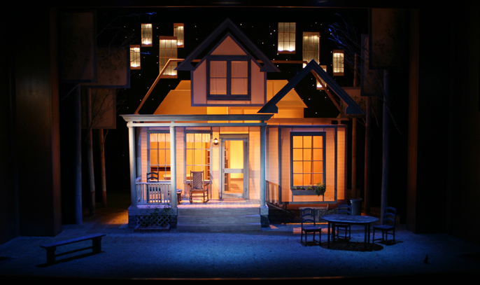 Photos of the 2008 All My Sons Set in the Jones Theatre