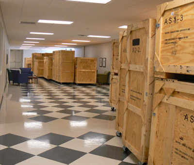 Crates in Hall
