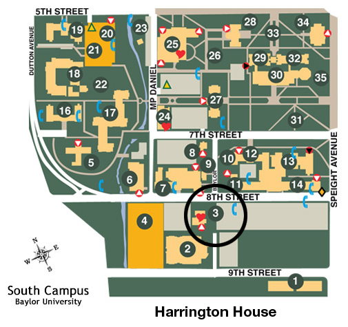 Harrington House map