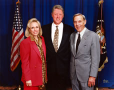 Bob and Jan with Bill Clinton. 1995