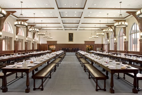 Great Hall Set for Dinner