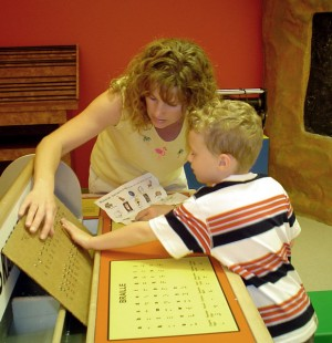 Learning Braille in the Communication room
