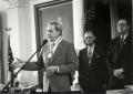Bob Bullock receives the Baylor Founders Medal from Baylor Chancellor Herbert H. Reynolds and Senator David Sibley. 1995