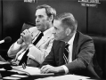 Bullock and H. Ross Perot work together on the Select Committee on Public Education. undated