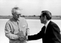 President Lyndon B. Johnson shakes hands with Bob Bullock. undated