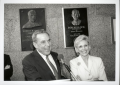 Bob Bullock and Jan Bullock at dedication of Bullock plaque. 1997