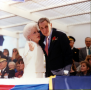 Gov. Ann Richards and Bob Bullock at inauguration ceremonies. 1991
