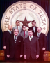 Elected officials with Governor Dolph Briscoe. 1972