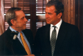 Bob Bullock and George W. Bush. undated