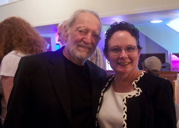 Carol Raulston and Willie Nelson