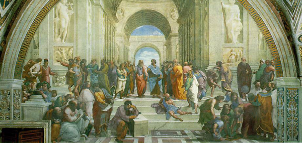 full school of athens