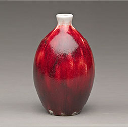 Orange-Peel Oxblood Glaze