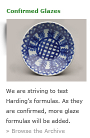 Confirmed Glazes