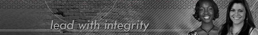 Lead With Integrity Header