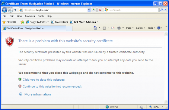SSL Certificates (Website Security) | Information Technology ...