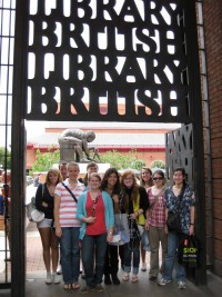 Students at British Library